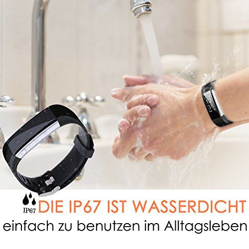 photo Wallpaper of ANEKEN-Fitness Tracker, Aneken Fitness Armband Mit Herzfrequenz, Schrittzähler Aktivitätstracker Pulsmesser Mit-Dunkel schwarz