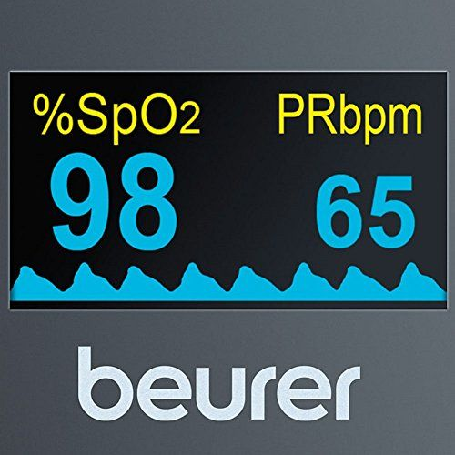 photo Wallpaper of Beurer-Beurer PO 40   Pulsioxímetro De Dedo, Pantalla Con 6 Vistas, Color-