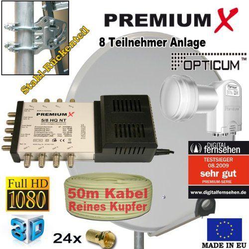 photo Wallpaper of PremiumX-PremiumX 80 Cm Sat Schüssel Spiegel + 5/8 Multischalter +-