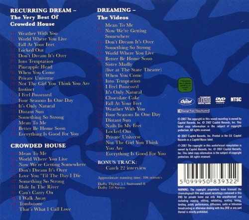 photo Wallpaper of Crowded House-Recurring Dream   The Very Best Of / Crowded House / Dreaming-