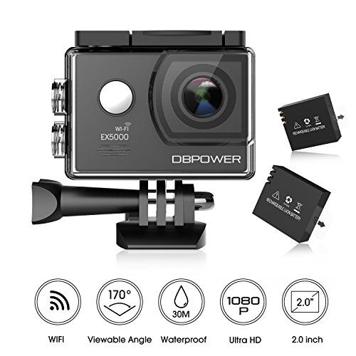 photo Wallpaper of DBPOWER-DBPOWER EX5000 Action Cam Wifi Unterwasserkamera 1080P Camera 14MP Ultra Full-schwarz