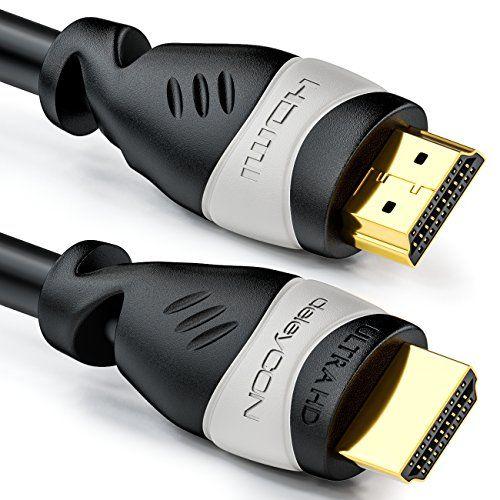 photo Wallpaper of deleyCON-DeleyCON 20m HDMI Kabel   Kompatibel Zu HDMI 2.0a/b/1.4a -Schwarz / Grau