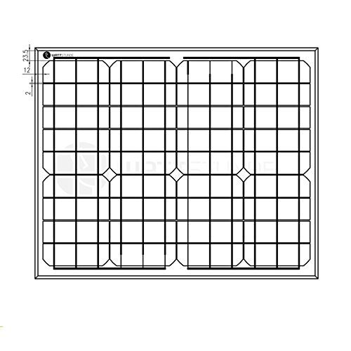 photo Wallpaper of WATTSTUNDE-WATTSTUNDE® 50W Solarmodul MONO 12V Solarpanel Solarzelle-