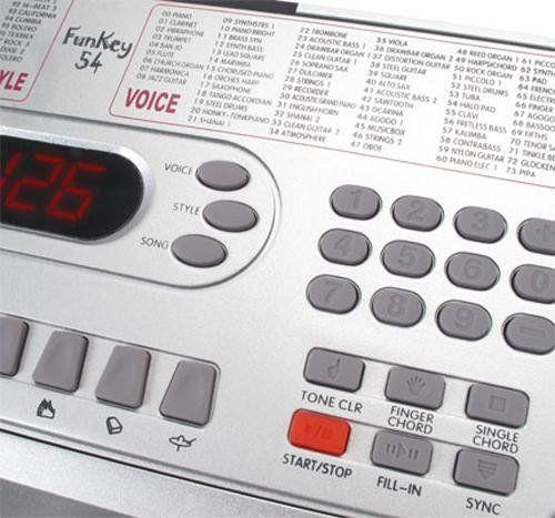 photos of Funkey 54 Keyboard Inkl. Höhenverstellbarem Ständer Und Sitzbank (100 Sounds, 100 Rhythmen, Netzteil, Notenständer) Heute Deals Kaufen   model Musical Instruments