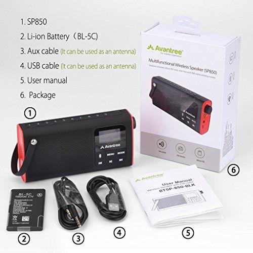 photo Wallpaper of Avantree-Avantree Portable Radio FM, Bluetooth Lautsprecher & SD Card Player 3-Radio FM