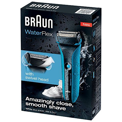 photo Wallpaper of Braun-Braun WaterFlex WF2S   Afeitadora Eléctrica Con Tecnología Wet & Dry,-Azul