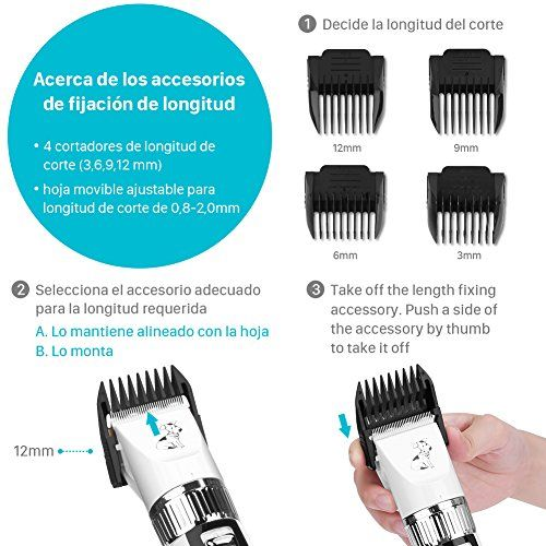 photo Wallpaper of GHB-GHB Cortapelo Para Perro Esquiladora Eléctrica Dog Clipper Recargable Para-Blanco