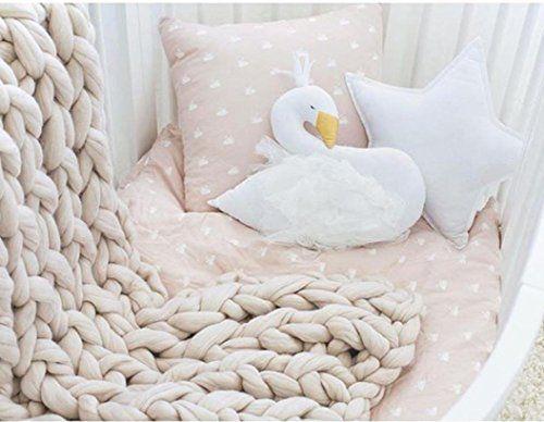 photo Wallpaper of Upxiang-Upxiang Schwan Plüsch Schlaf Puppen Dekokissen Crown Swan Kinder Spielzeug Fotografie Requisiten Raumdekoration-Weiß