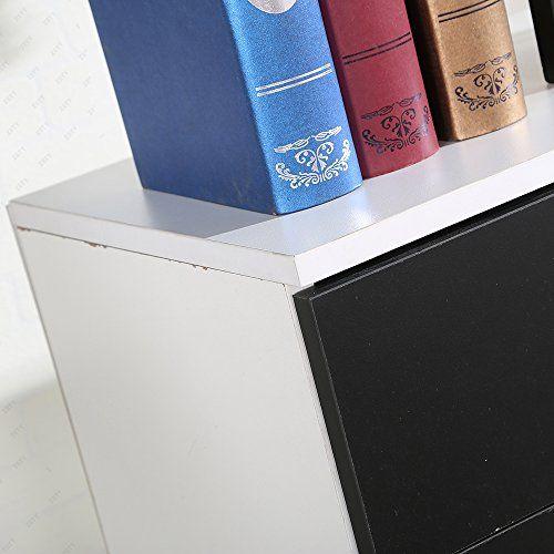 photo Wallpaper of UEnjoy-UEnjoy Kommode Sideboard Schrank Schlafzimmer Nachttisch Mit 4 Schubladen Schwarz-Schwarz