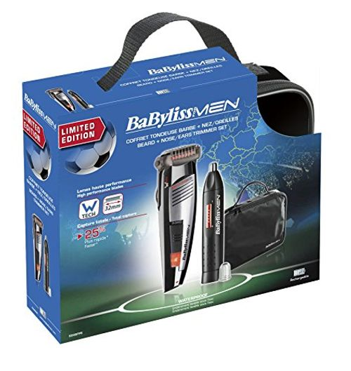 photo Wallpaper of BaByliss-BaByliss E846FPE   Kit De Barbero Y Naricero-Negro, Plata