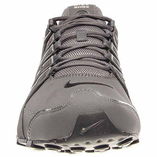 photo Wallpaper of Nike-Nike Mens Shox NZ Dark Grey Leather Trainers 42.5 EU-Dunkelgrau