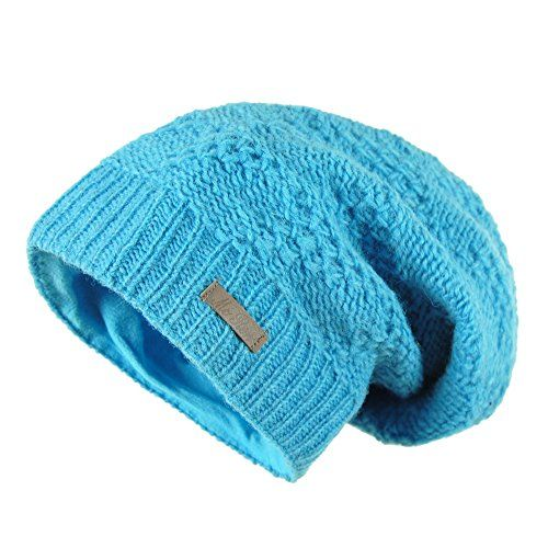 photo Wallpaper of McRon-McRon Wollmütze Lina Helltürkis Für Damen Mütze Beanie Slouch Strickmütze Wintermütze Warm Gefüttert-Helltürkis
