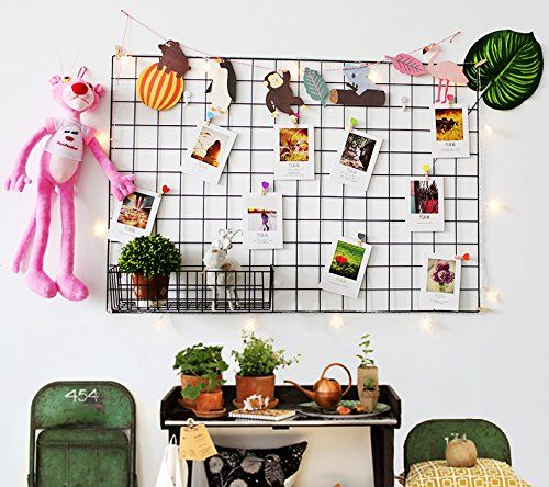 photo Wallpaper of Ray & Chow-Ray & Chow 2er DIY Eisen Gitter Der Foto Wand Dekoration Plaid-Schwarz