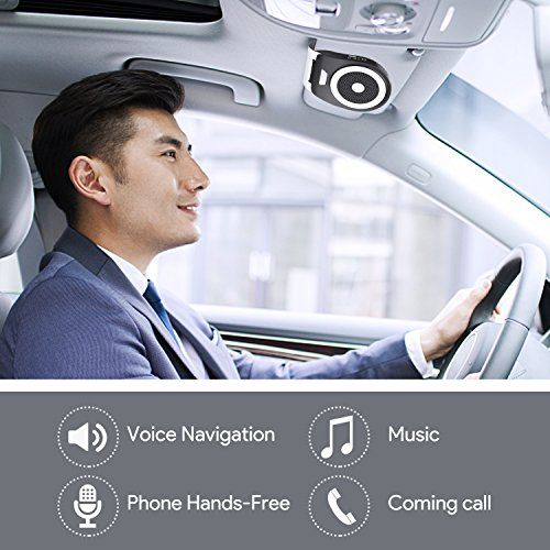 photo Wallpaper of Zhuanjiao-Bluetooth 4.1 Kfz Freisprecheinrichtung Auto Kfz Bluetooth Auto Freisprechanlage Visier Car Kit-Black