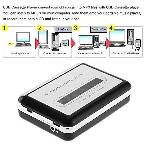 photo Wallpaper of Docooler-Docooler Tragbare Kassettenspieler   Portable Tape Player Captures Kassettenrekorder über USB  -Type 1