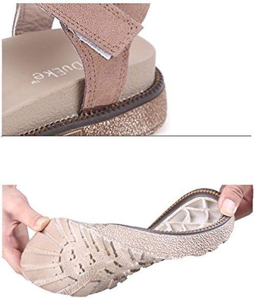 photo Wallpaper of PAMRAY-PAMRAY Sommer Sandalen Damen Slingback Velcro Wildleder Sandale Frauen Double Platform Riemchen-Rosa(bittenehmensiedasgrößenetikettderschuhealsstandard,wennsiesieerhalten)