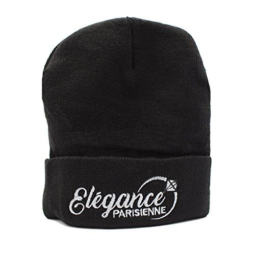photo Wallpaper of Elegance Parisienne-ELEGANCE PARISIENNE Beanie Mütze Strickmütze Winter Mütze Modisch Schwarz Für Frauen Mädchen-Schwarz