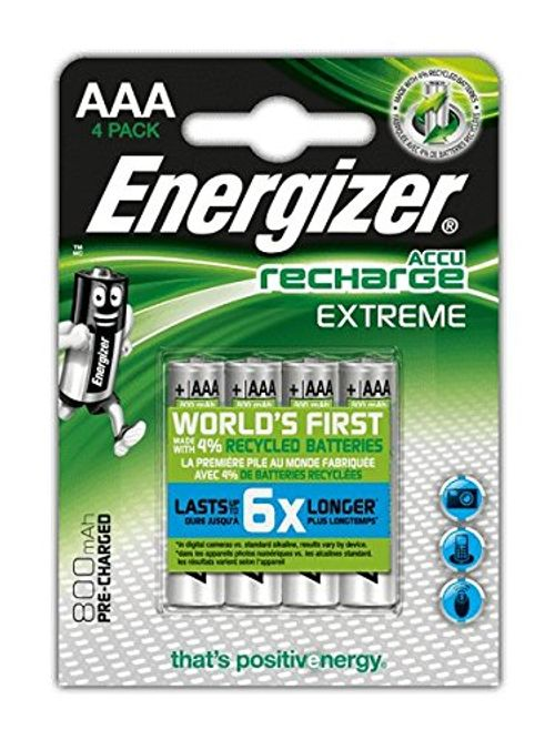 photo Wallpaper of Energizer-Energizer NimH Akku Rechargeable Extreme Micro (1,2Volt 800mAh, Vorgeladen 4er Packung)-Silber