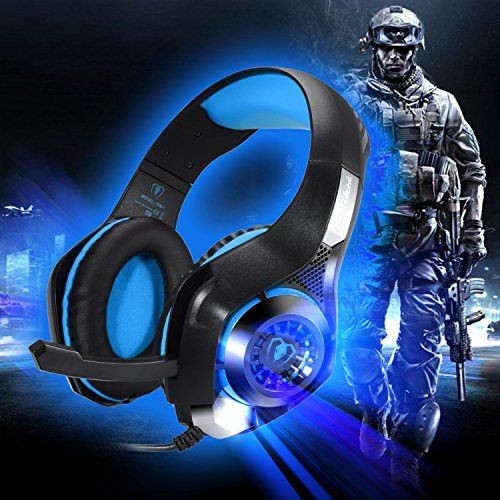 photo Wallpaper of BlueFire-BlueFire 3.5mm Gaming Headset Komfortable Over Ear Wired Kopfhörer Mit Mikrofon Für PS4 /-Blau