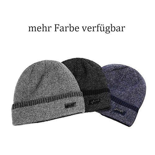 photo Wallpaper of Supower-Wintermütze Herren, Warm Beanie Strickmütze Und Schal Mit Fleecefutter-Blau