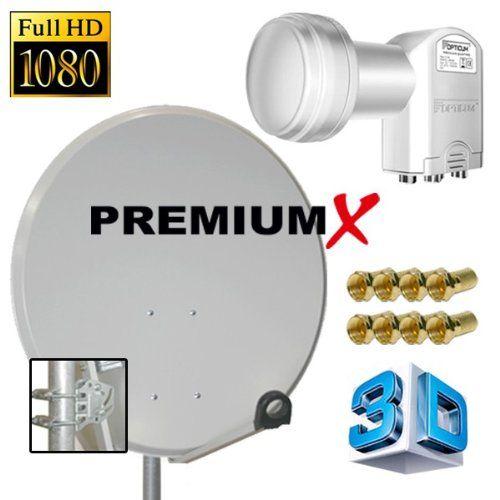 photo Wallpaper of PremiumX-PremiumX Digital SAT Anlage 60 Cm Schüssel Spiegel Antenne Stahl Hellgrau Mit-Hellgrau