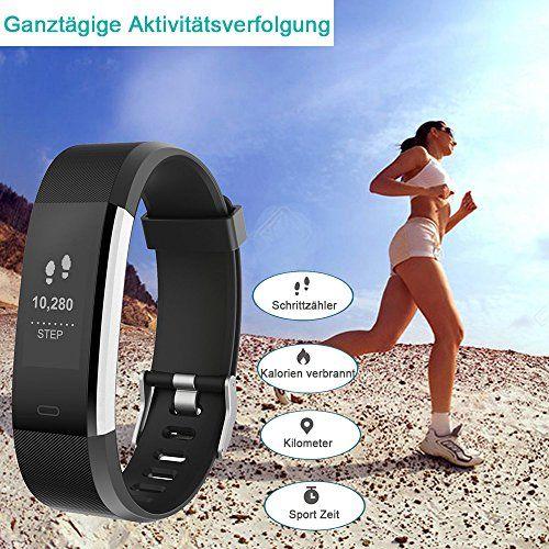 photo Wallpaper of YAMAY-YAMAY Fitness Armband Uhr Mit Pulsmesser,Wasserdicht IP67 Fitness Tracker Aktivitätstracker Pulsuhren Bluetooth Smart ArmbandUhr-Schwarz