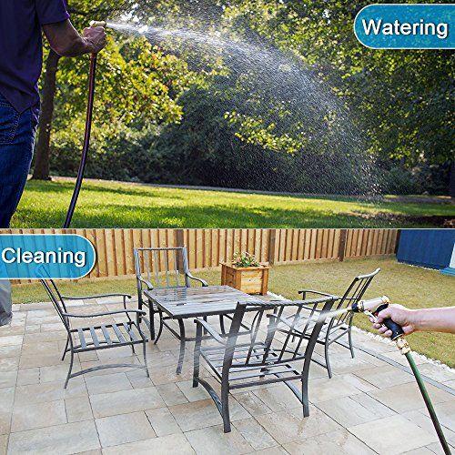 photo Wallpaper of omitium-Omitium Garten Handbrause Gartenbrause Hochdruck Metal Verstellbarer Wasserdurchfluss Robust Und-Golden