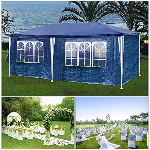 photo Wallpaper of huigou-HG® Partyzelt Festzelte 3x6m Blau Camping Vereinszelt Strand Stahlkonstruktion Mit Extra Dickem-Blau