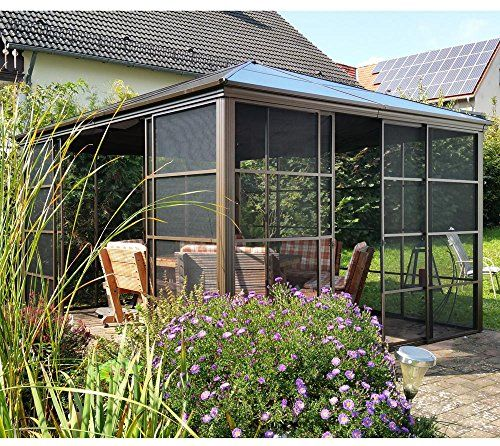 photo Wallpaper of Sojag-Aluminium Pavillon Überdachung Gazebo Castel 12x14 // 427x362 Cm (BxH)-