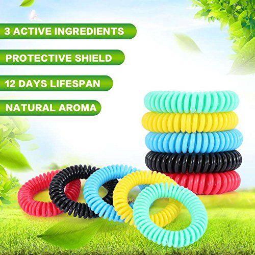 photo Wallpaper of Diswoe-Diswoe Moskito Armband Mückenschutz Armband 10 Stück Repellent Moskito Repellent Armbänder Dauert-