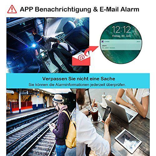 photo Wallpaper of ieGeek-[Verbesserte] IeGeek IP überwachungskamera / IP Kamera 720P HD Wasserdicht Wlan Sicherheitskamera Für-Schwarz