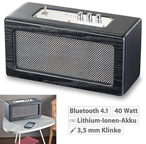 photo Wallpaper of auvisio-Auvisio Mini Lautsprecher: Mobiler Retro Lautsprecher Mit Bluetooth 4.1 Und AUX Eingang,-