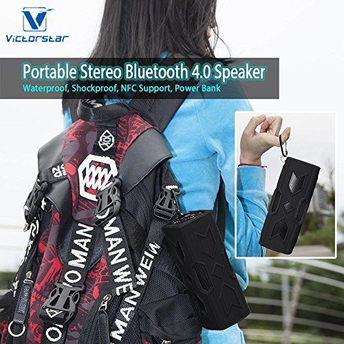 photo Wallpaper of Victorstar-VICTORSTAR @ Tragbare Mini Lautsprecher Portable Outdoor Sport Bluetooth Stereo V4.0 Wasserdicht Staubdicht Stoßfest-