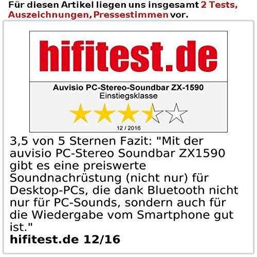 photo Wallpaper of auvisio-Auvisio Mini Soundbar Für PC: PC Stereo Soundbar Mit Bluetooth Und AUX, USB-