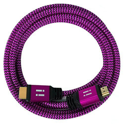 photo Wallpaper of i!-[i!®] 20m Premium Nylon High Speed HDMI Kabel [Neuste Generation] Kompatibel Mit-pink