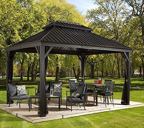 photo Wallpaper of Sojag-Aluminium Pavillon Überdachung Gazebo Messina 12x16 // 363x483 Cm (BxH) // Sommer Pavillon-anthrazit