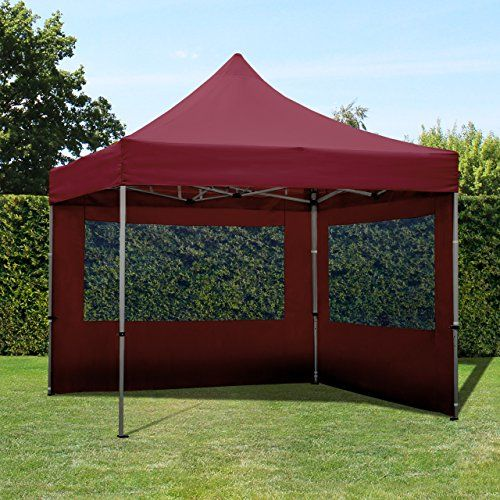 photo Wallpaper of TOOLPORT-TOOLPORT Faltpavillon Faltzelt 3x3m   2 Seitenteile ALU Pavillon Partyzelt Rot-rot
