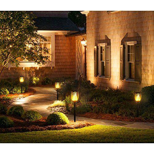 photo Wallpaper of BlueFire-Bluefire Solar Fackel Garten Licht Lampe , 96 LED Flammenartige-