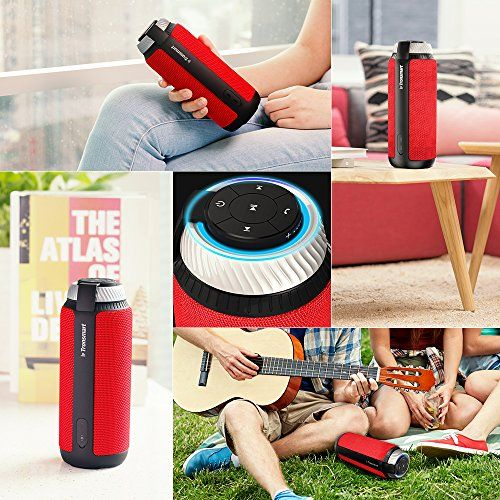 photo Wallpaper of Tronsmart-Bluetooth Lautsprecher, Tronsmart 25 Watt Tragbare Lautsprecher, 360° Surround Sound, 15 Stunden-Rot