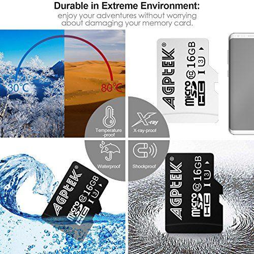 photo Wallpaper of AGPTEK-16GB Klasse 10 SD UHS III Speicherkarte Ultra Schnelle Geschwindigkeit-