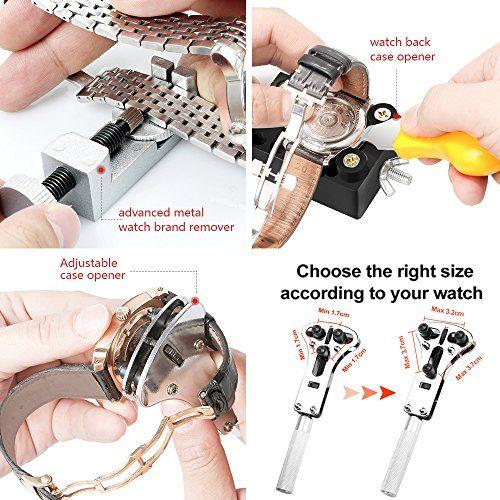 photo Wallpaper of Eventronic-Eventronic Uhrenwerkzeug Set 15tlg, Uhr Reparatur Uhrmacherwerkzeug Uhr Werkzeug Tasche-