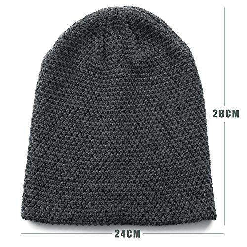 photo Wallpaper of Emper-Emper Beanie Winter Mütze Damen Und Herren-Grau