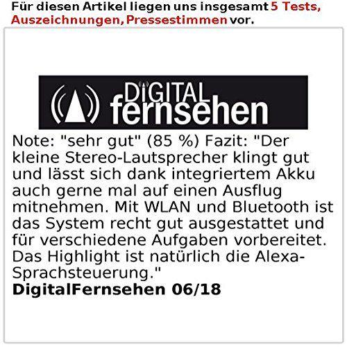 photo Wallpaper of auvisio-Auvisio Lautsprecher, Bluetooth: WLAN Multiroom Stereo Lautsprecher Mit Amazon Alexa Und Akku, 20 Watt-Schwarz