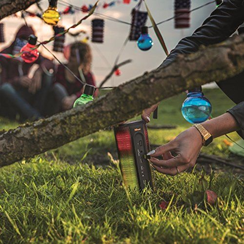 photo Wallpaper of Trust Urban-Trust Urban Dixxo Beleuchteter Bluetooth Lautsprecher (360° LED Lichtshow, Kabellos, Bluetooth, 3,5 Mm Aux-schwarz