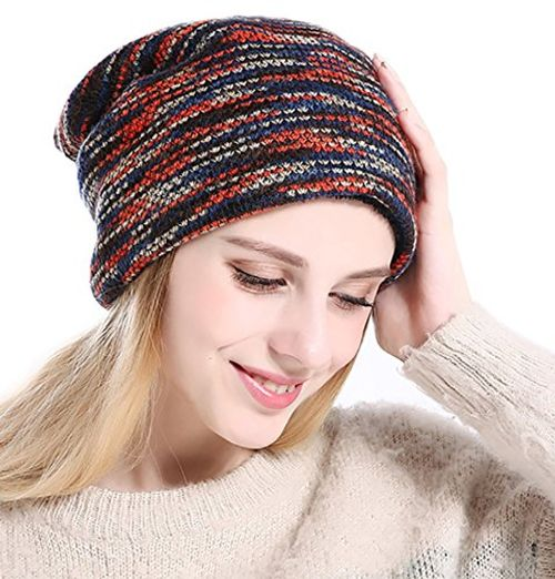 photo Wallpaper of CoCo Fashion-CoCo Fashion Unisex Beanie Mütze Elastisch Slouch Strickmütze Warme Wintermütze-045_Rot
