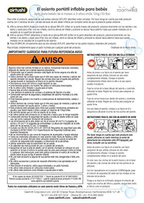 photo Wallpaper of Roamwild-Airtushi   Silla Alta Para Bebé Inflable Portátil  -
