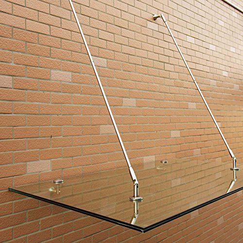 photo Wallpaper of SAILUN-SAILUN® VSG Überdachung Vordach Glasvordach Türvordach Verbundsicherheitsglas VSG 304 Edelstahl Klarglas Größen 180 X-