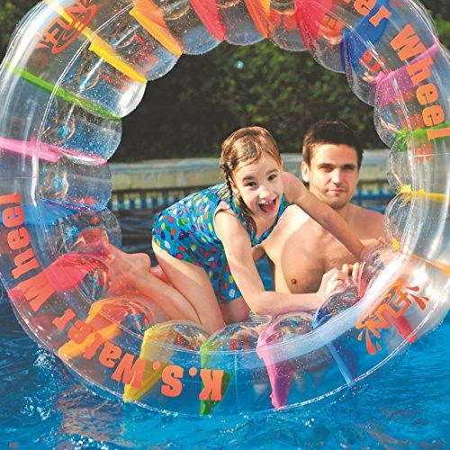 photo Wallpaper of Jilong-Jilong Kid Ster Wheel Ø 125 Cm Wasser Laufrad Hamsterrad Wasserspielzeug Wasser-transparent