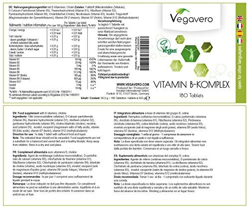 photo Wallpaper of Vegavero-COMPLEJO VITAMINA B | 180 Comprimidos Suministro 8 Vitaminas B1 B2 B3-