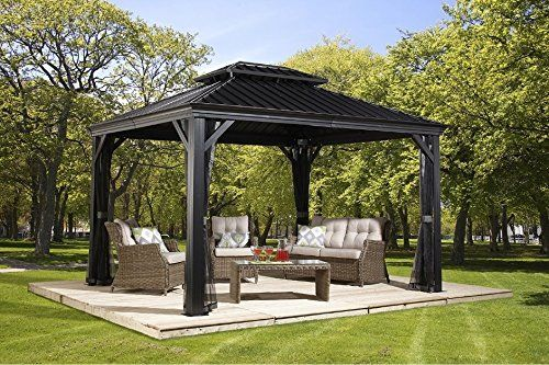 photo Wallpaper of Sojag-Aluminium Pavillon Überdachung Gazebo Messina // 298x363 Cm (BxH) // Sommer Pavillon-